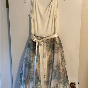 Cream and floral Prom dress